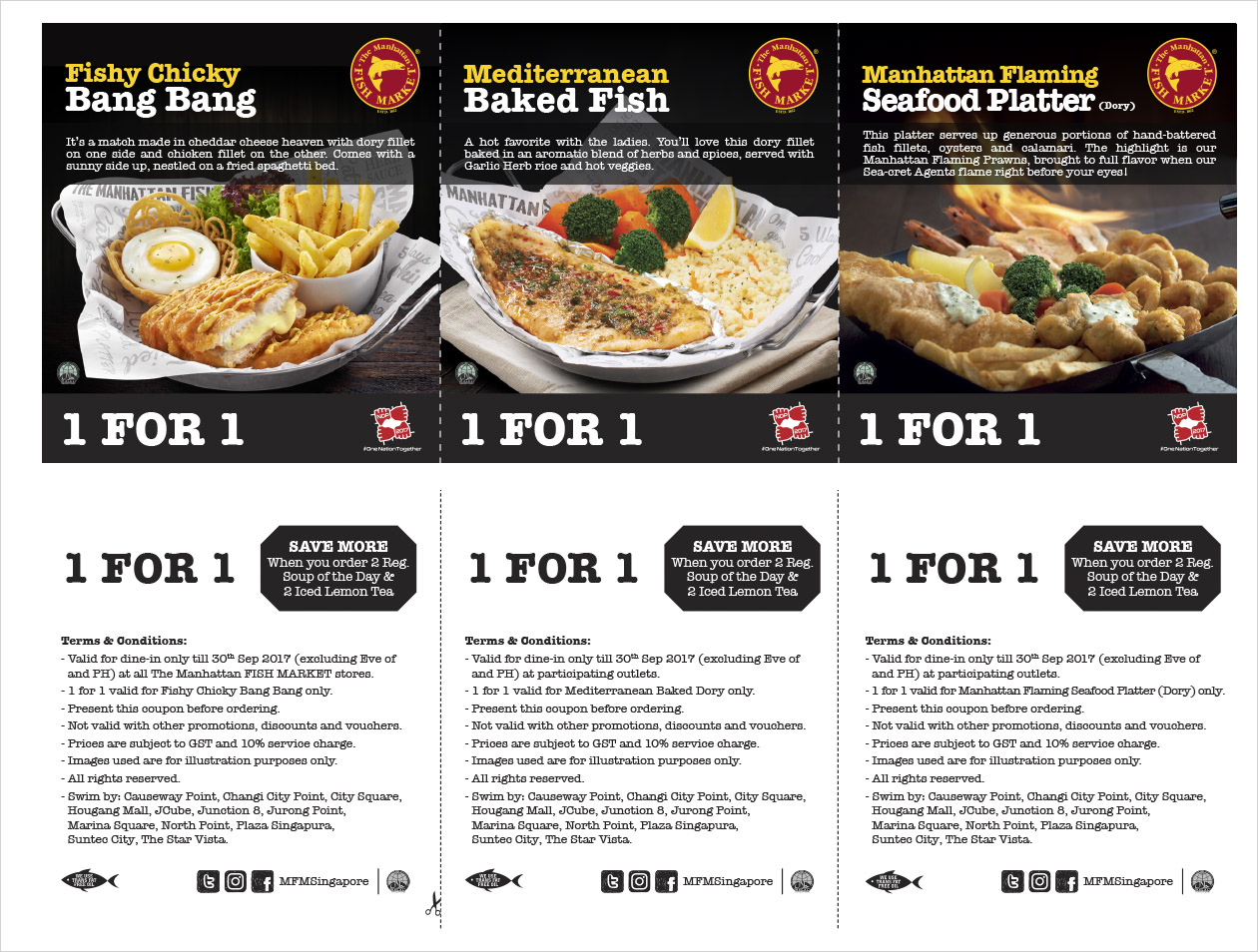 Manhattan fish market promotion of singapore national day for Manhattan fish and chicken menu